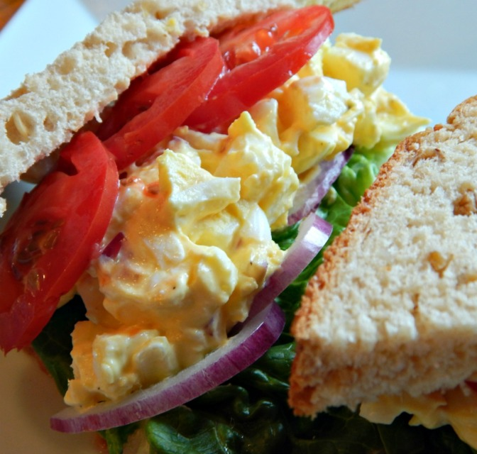 Egg Salad Sandwich & Marinated Asparagus