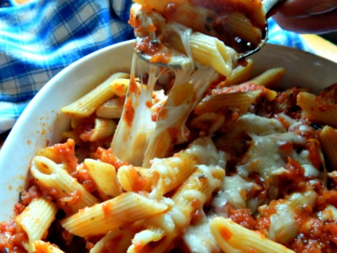 Baked Ziti - The fresh Mozzarella makes all the difference!
