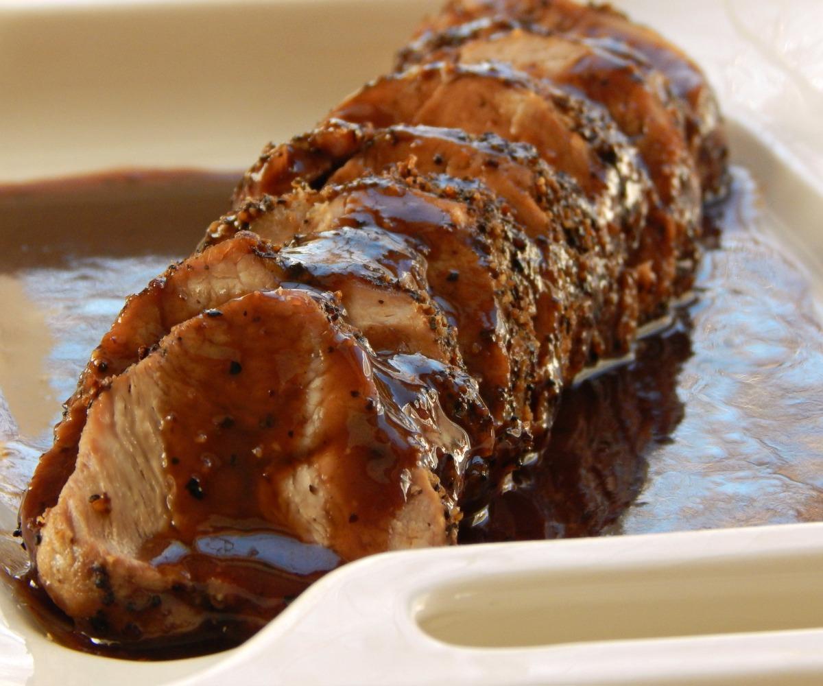 Pork Tenderloin With Sauce Poivrade . $5.16