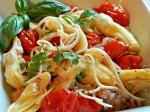 pasta with tuna and tomatoes x