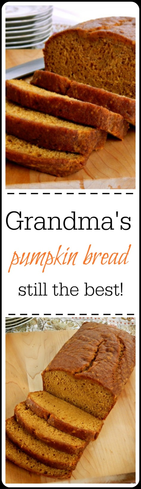 Seriously the best Pumpkin Bread I've ever had. Better than any of the newer, fancier versions - hands down!!