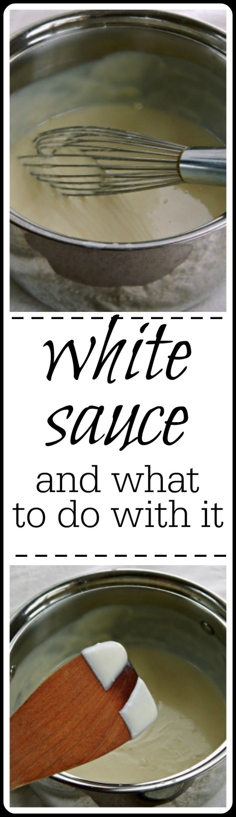 How to make, variations, troubleshooting and lots of examples on what to use white sauce in or on!