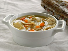 Classic Chicken or Turkey Noodle Soup https://frugalhausfrau.com/2011/11/15/turkey-noodle-soup/
