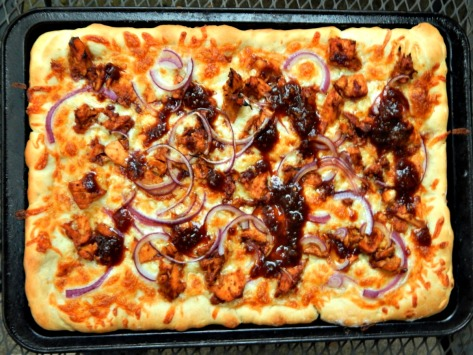 Tyler Florences Pizza - this one is Barbecue made with leftovers...