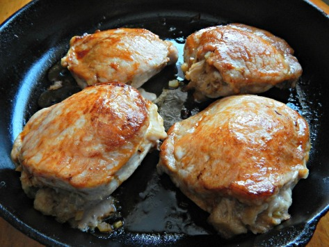 Apple Glazed Stuffed Pork Chops