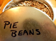 Pie Beans store well in a canister - Keep forever!