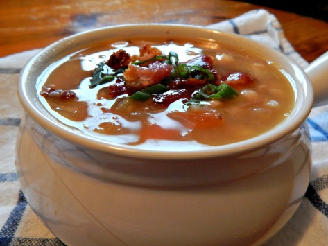 Navy Bean Soup with Bacon