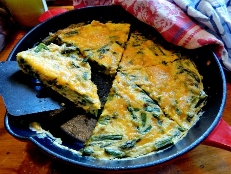 Frittatas are really most impressive served right from the pan at the table