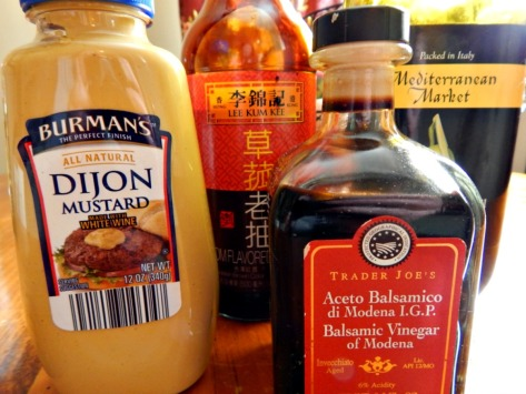 Ingredients for Melissa D'Arabian's Mustard Dressing