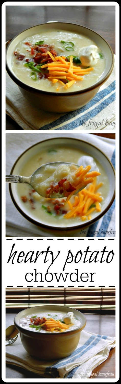 Classic Potato Chowder - so good & budget friendly. Easy and quick to make.