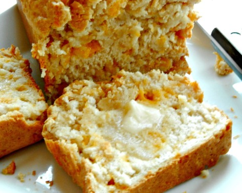 Beer Cheese Bread - Do try to let it cool a bit and it will cut better! I promise! :)