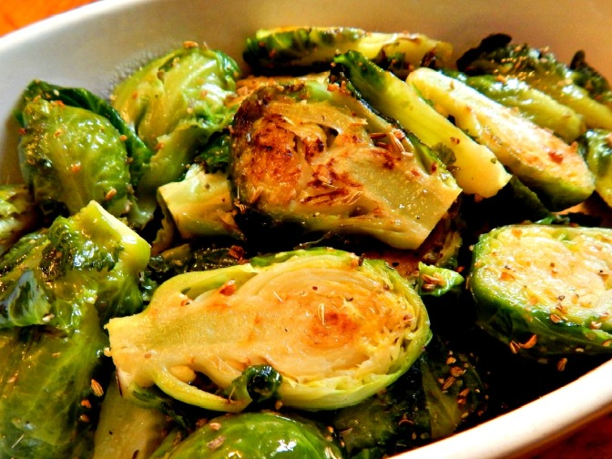 Brussels Sprouts with Fennel Rub x
