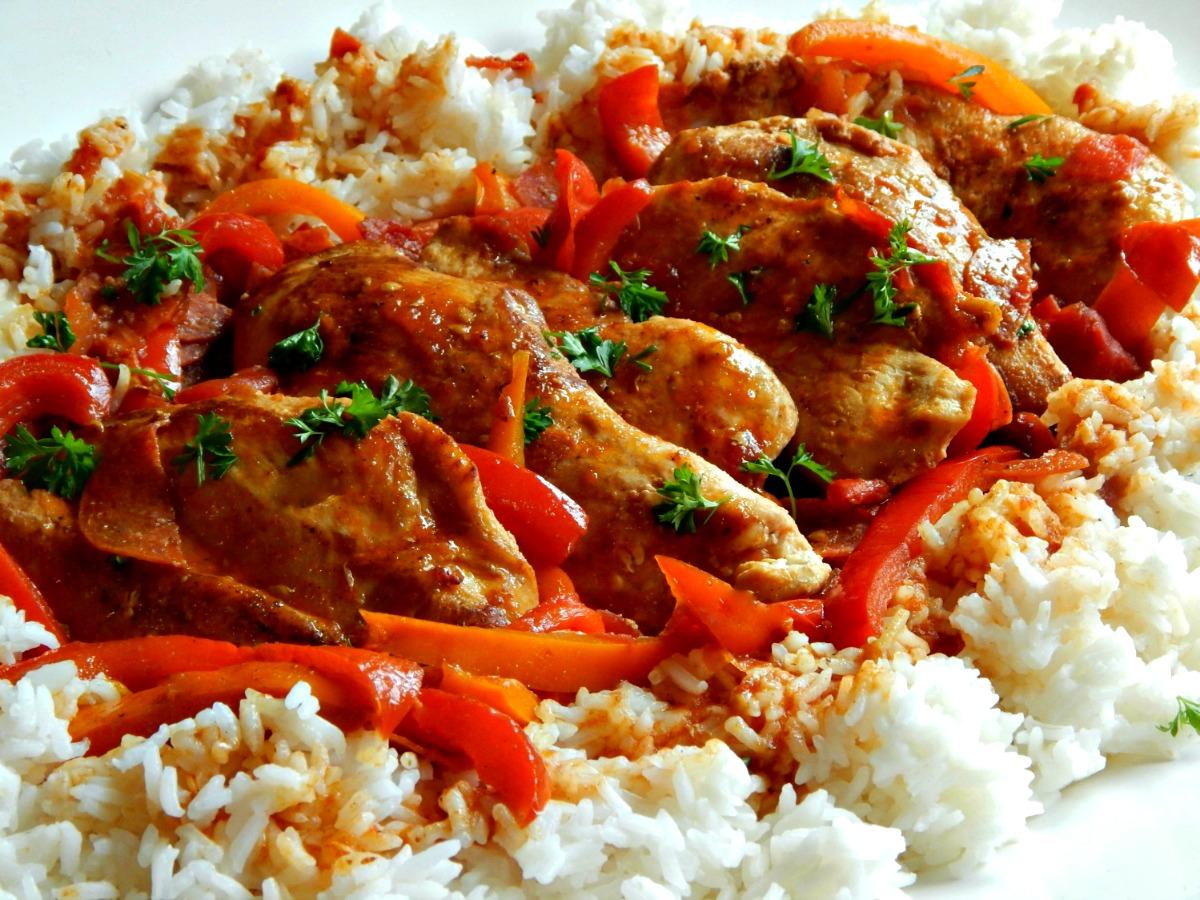 Basque Chicken – Poulet Basquaise