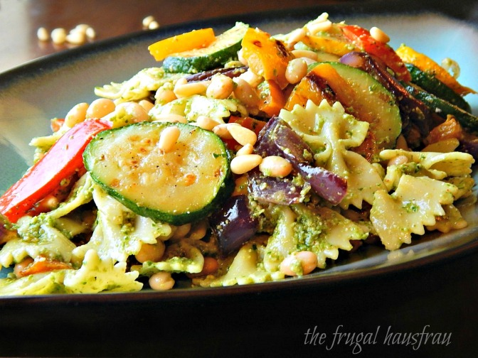 Pesto Pasta Salad with Grilled Vegetables