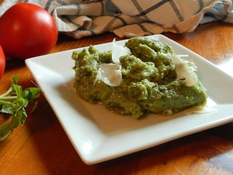 Pesto – this is 1/2 recipe, about a cup