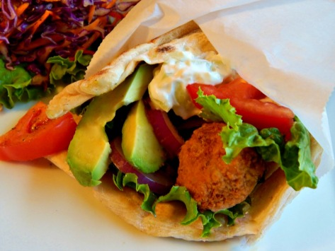 Falafel Sandwiches - customizable at home!