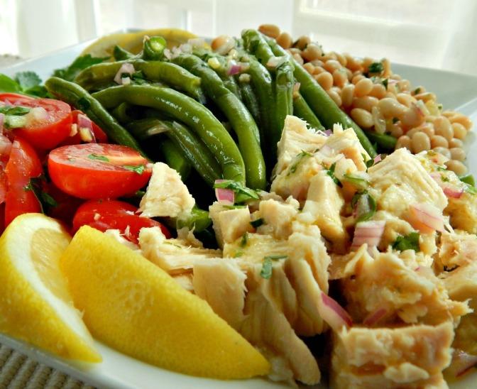 Tuna with Bean & Tomato Salad