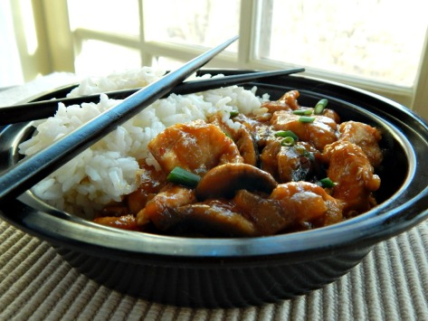 Bourbon Chicken - delicious, sweet & smoky. This was so much better than take out!