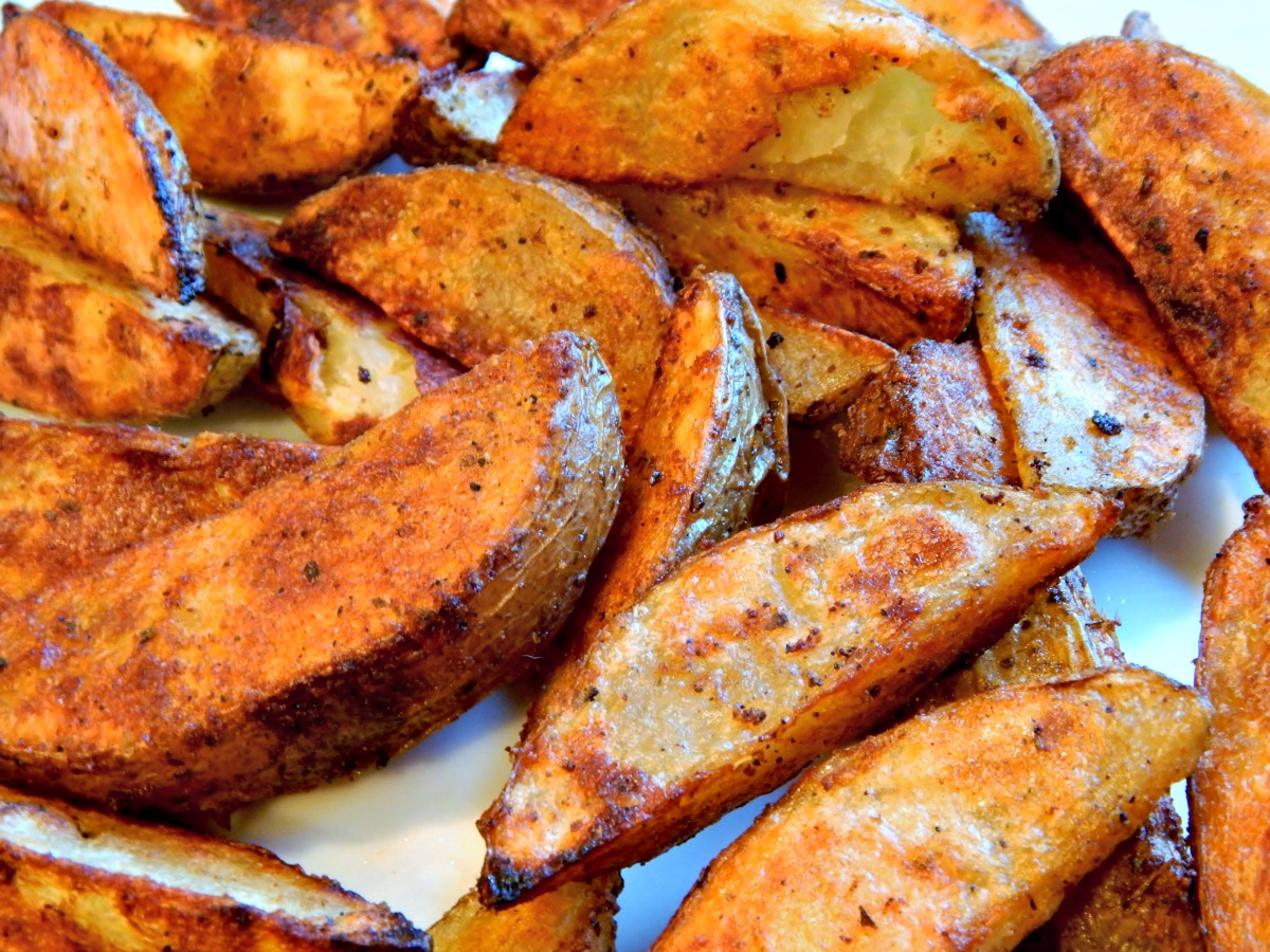 Roasted Potato Wedges Recipe — Dishmaps