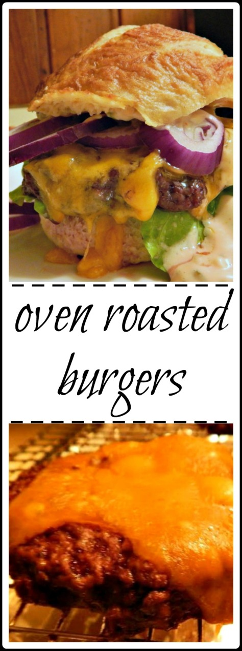 Da Bomb Oven Roasted Burgers - perfect every time, fast & easy & NO MESS! Make as large or as small as you'd like and NO they DON'T taste like Meatloaf!!