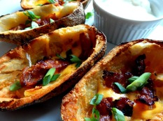 Potato Skins made from left over baked potatoes.