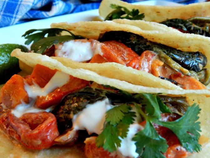 Rajas con Crema Tacos