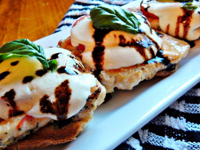 Grilled Caprese Chicken with Balsamic Glaze