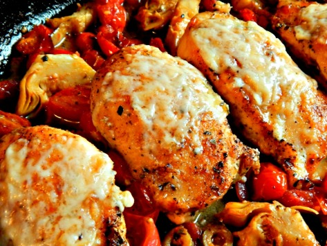 Chicken Italiano Ultimate Version – oops, forgot the sprinkle of basil and parsley