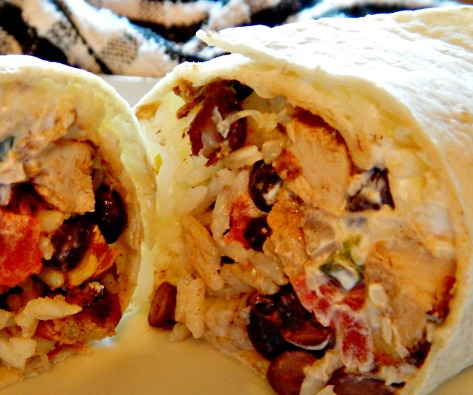 Chipotle's Chicken Burrito Copycat - check out Costco or Aldi for Giant tortillas