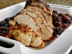 Spice Rubbed Pork Tenderloin with Rhubarb Cranberry Chutney