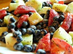 Lemon Poppy Seed Fruit Salad x