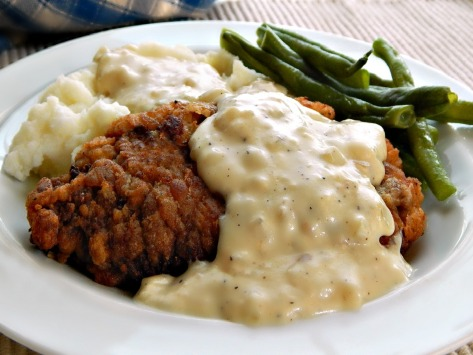 Chicken Fried Steak with White Gravy