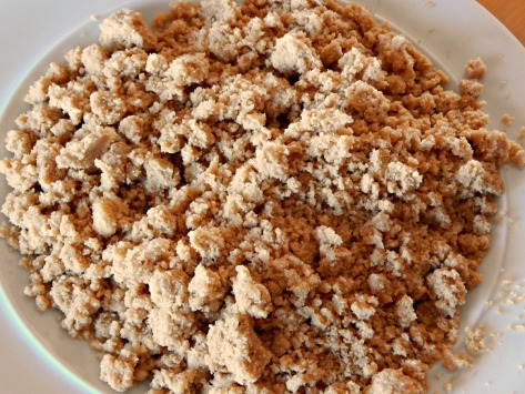 Streusel is even better frozen - make extra for another recipe.