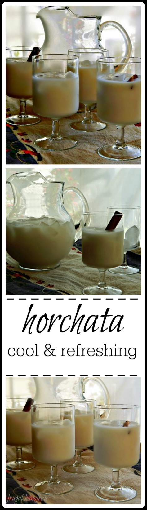 Horchata - a cool and refreshing aguas fresca. Pennies to make.