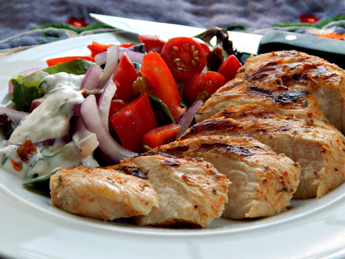 Grilled Cajun Chicken Salad . $5.40 | Frugal Hausfrau