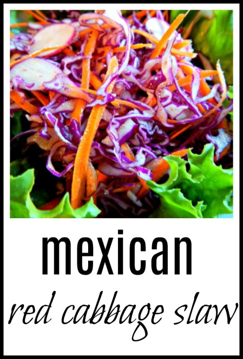 Mexican Red Cabbage Slaw - make it cool to serve with something spicy or make it spicy to serve with something plain!