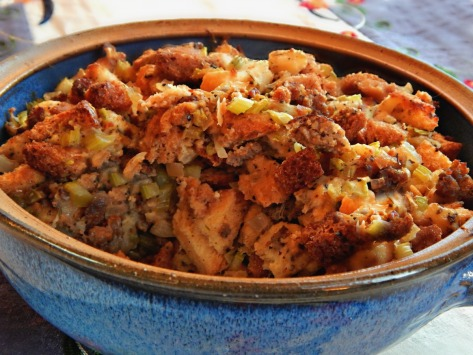 Classic Midwestern Stuffing - shown here is 1/2 a recipe