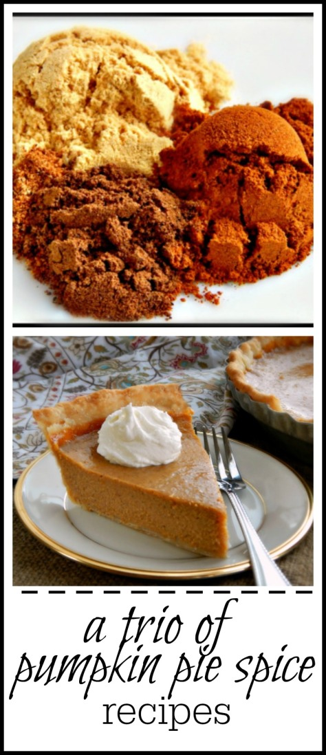 Three different pumpkin pie spice recipes, including the blend Libby's uses for it's famous pumpkin pie recipe