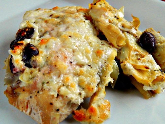 Hot Artichoke Dip Chicken with Parmesan & Yogurt