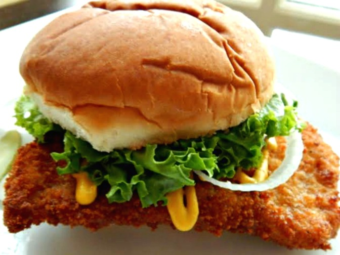 The Iowa Pork Tenderloin Sandwich Breaded Pork Tenderloin BPT