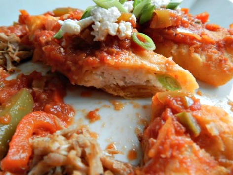 I'll use my Queso Fresco in Three Cheese Enchiladas with Braised Pork and Ranchero Sauce - Cheese Inside