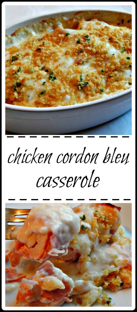 Super easy casserole with all the flavor of chicken cordon bleu!