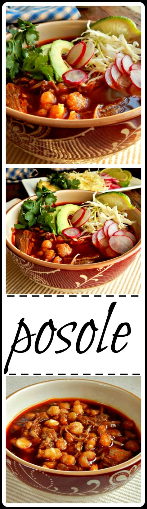 Posole or Pozole A favorite down home stew of pork and hominy, Easy to make from scratch or from pulled pork leftovers, stove-top or slow cooker.