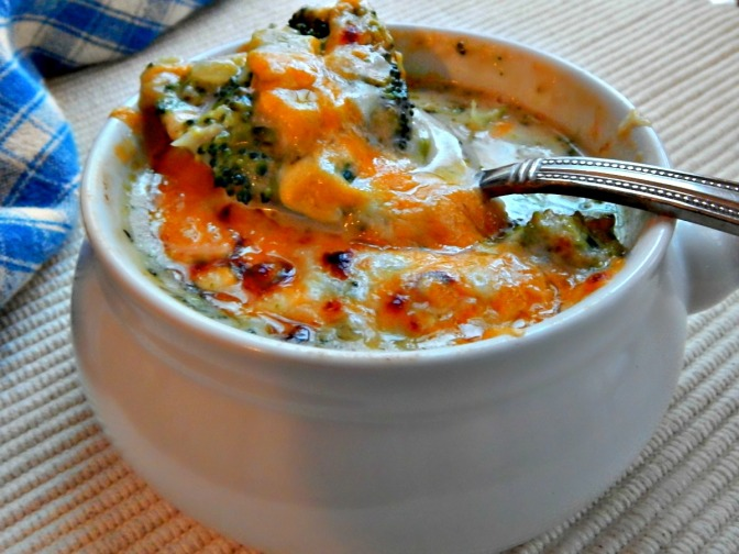 "Russell's Cream of Broccoli Soup with Cheddar ""Raft"""