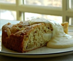 Irish Apple Pie Cake with Custard Sauce