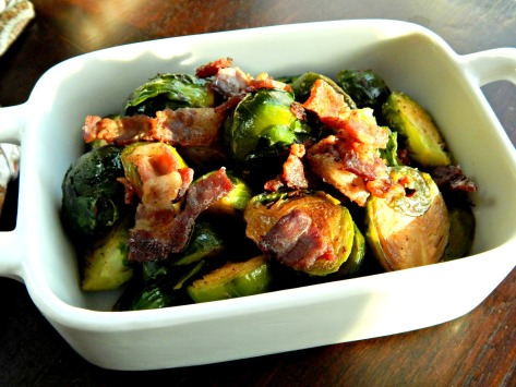 Brussels Sprouts sauteed with Bacon