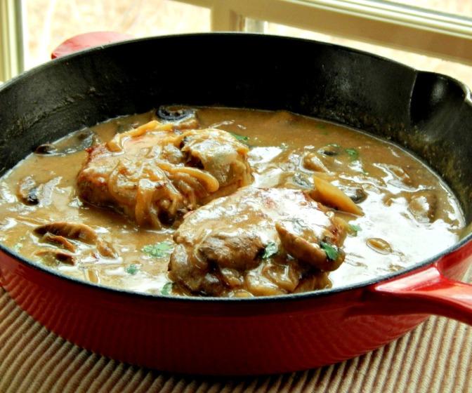 Creamy Mushroom Pork Chops $4.68