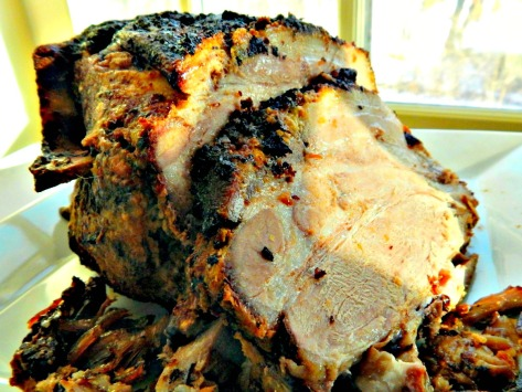 Lechon Asado, Cuban Roast Pork – even left over the next day it was juicy & tender