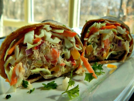 Healthier Tuna Melt or Salad as a Wrap