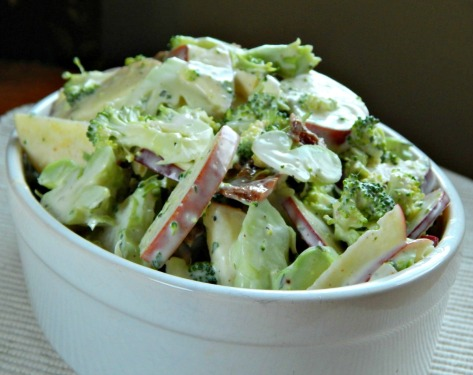 Shaved Broccoli Salad with Apples & Tarragon